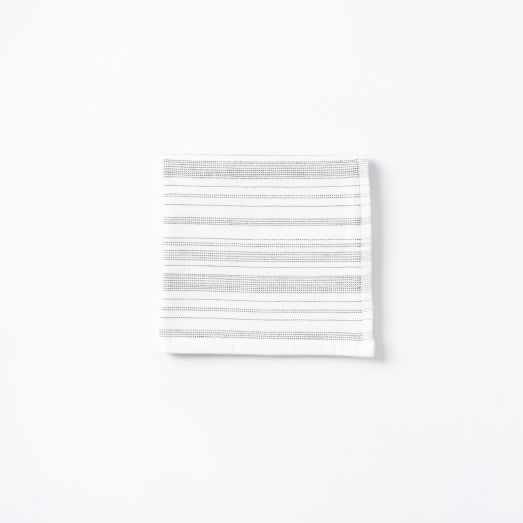 Spa Stripe Washcloth, White/Anthracite
