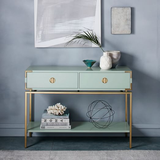 malone campaign console oregano west elm. Black Bedroom Furniture Sets. Home Design Ideas