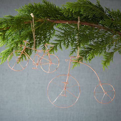 Wire Metal Bike Ornament, High Front Wheel