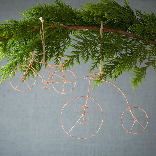 Wire Metal Bike Ornament, High Front Wheel