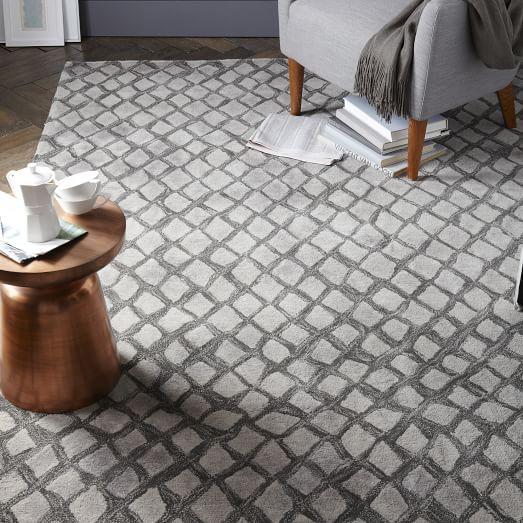 Serpentine Wool Rug - Slate