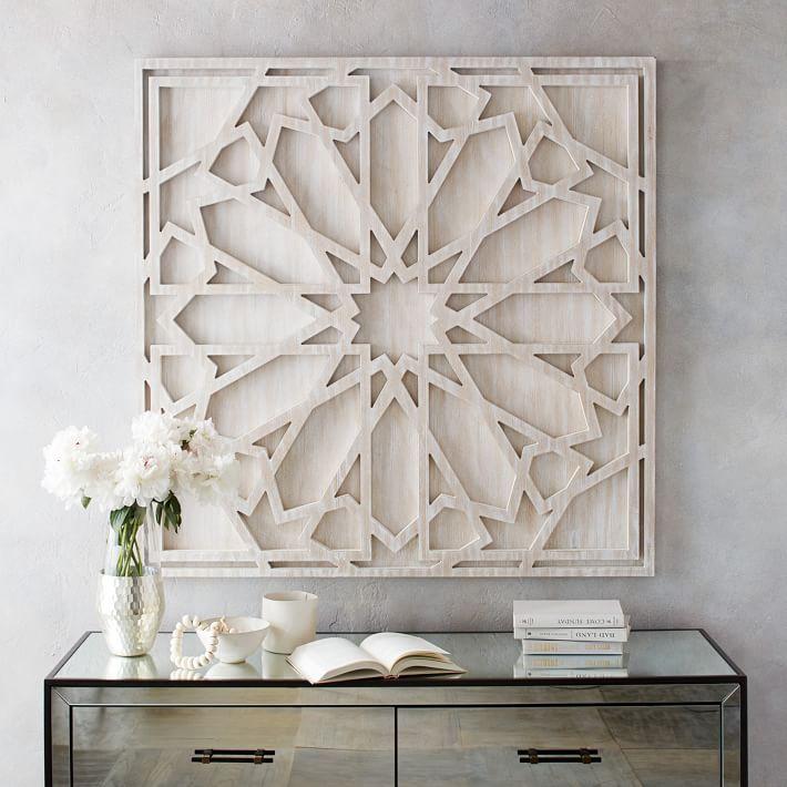 White Tin Wall Decor : White wall art metal foter with modern