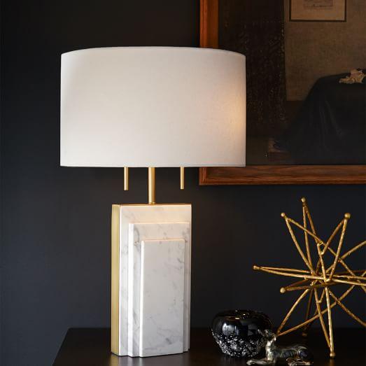 Deco Marble Table Lamp West Elm