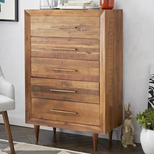 Wood Dressers And Chest Of Drawers ~ Alexa reclaimed wood drawer dresser west elm