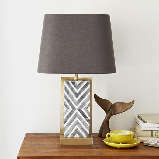 chevron deco table lamp small west elm. Black Bedroom Furniture Sets. Home Design Ideas
