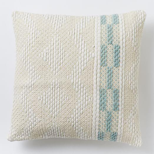 Diamond Color Stripe Pillow Cover - Pale Harbor