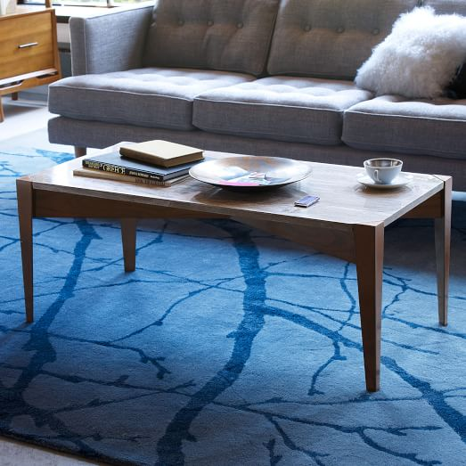 Solid Travertine Coffee Table: Prism Travertine Coffee Table