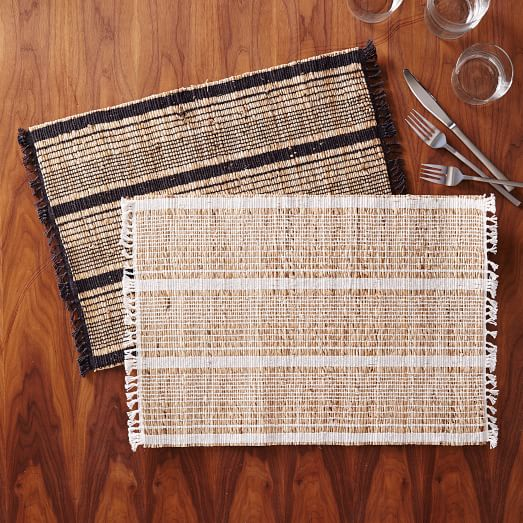 Striped Natural Placemat Set