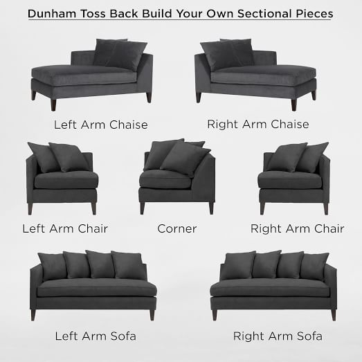 Build Your Own - Dunham Toss Back Sectional Pieces