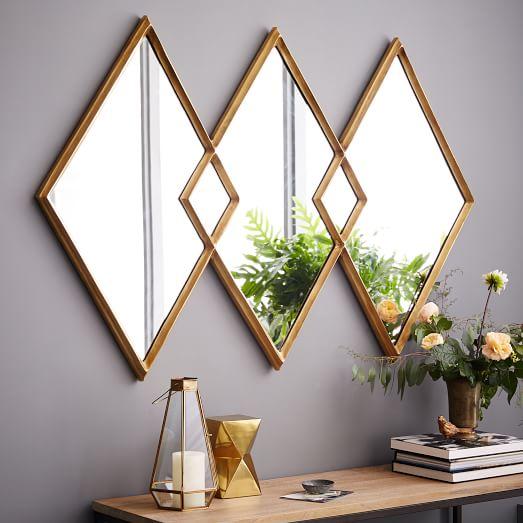 Overlapping Diamonds Mirror