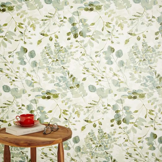 chasing paper removable wallpaper woodland west elm