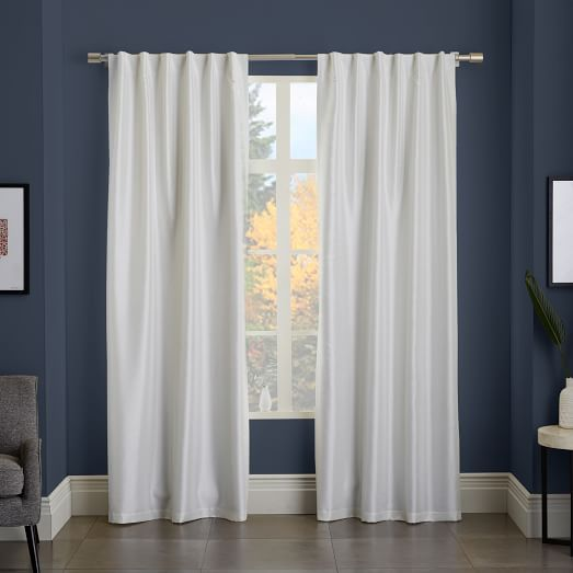 greenwich curtain blackout liner ivory west elm