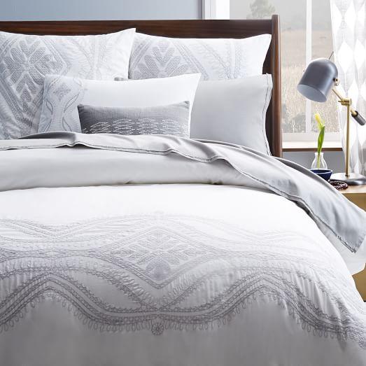 maroc embroidered duvet cover west elm. Black Bedroom Furniture Sets. Home Design Ideas