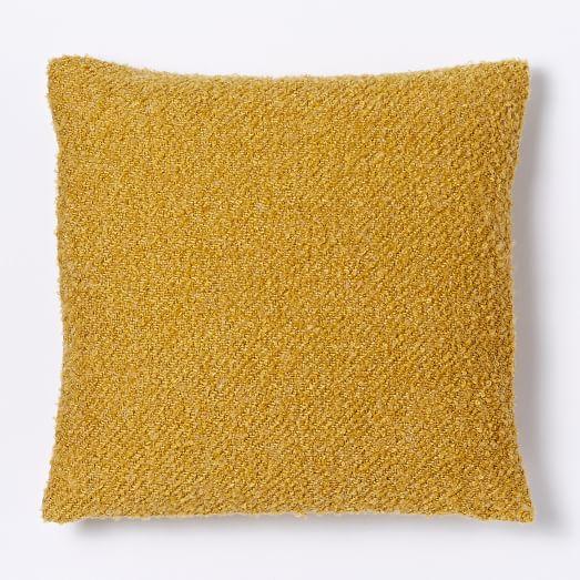 Heathered Boucle Pillow Cover - Horseradish