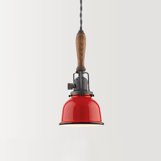 Wiley Industrial Cord Pendant – Tomato Red