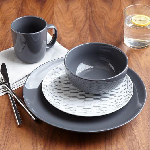palette dinnerware set slate west elm