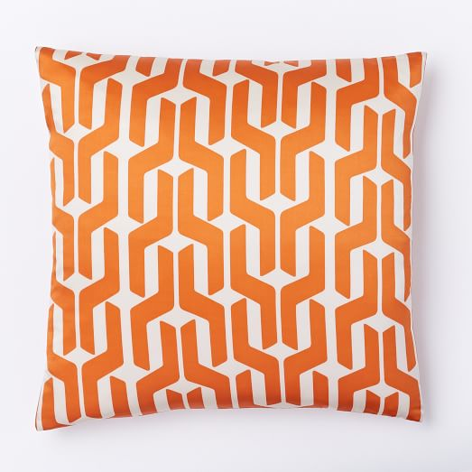 Silk Stacked Geo Pillow Cover - Sweet Potato