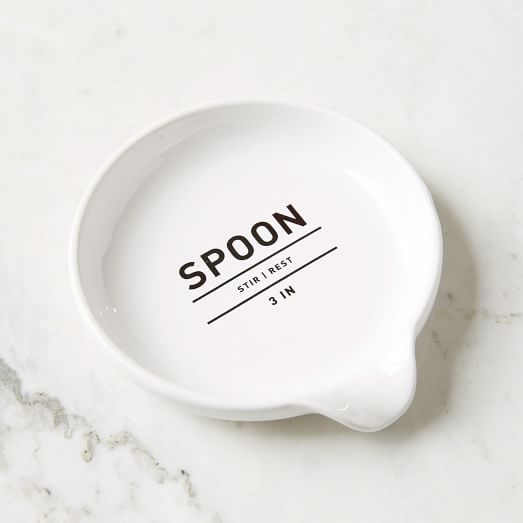 Cat Spoon Rest White