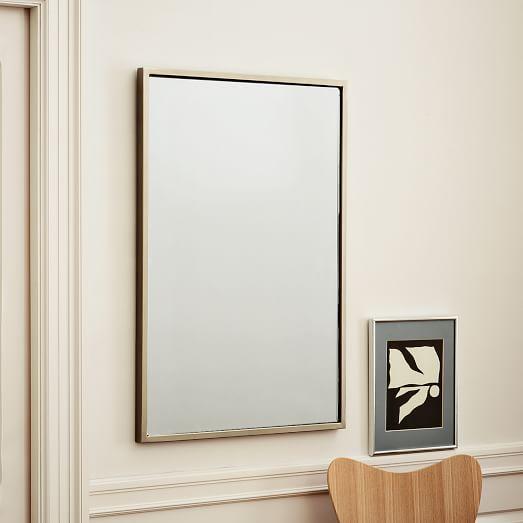 Wall Art In Mirror Frame : Metal framed wall mirror west elm