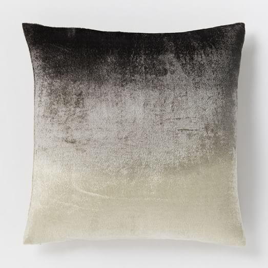 ombre velvet pillow cover slate west elm. Black Bedroom Furniture Sets. Home Design Ideas
