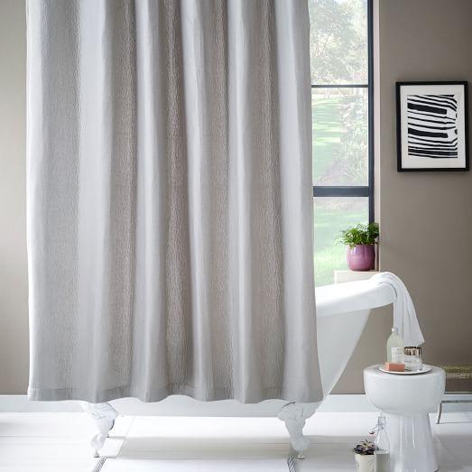 Brighton Matelasse Shower Curtain - Platinum