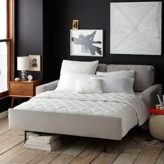 henry deluxe sleeper sofa queen west elm. Black Bedroom Furniture Sets. Home Design Ideas