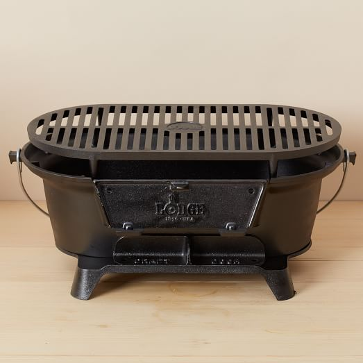 Lodge cast iron hibachi grill west elm