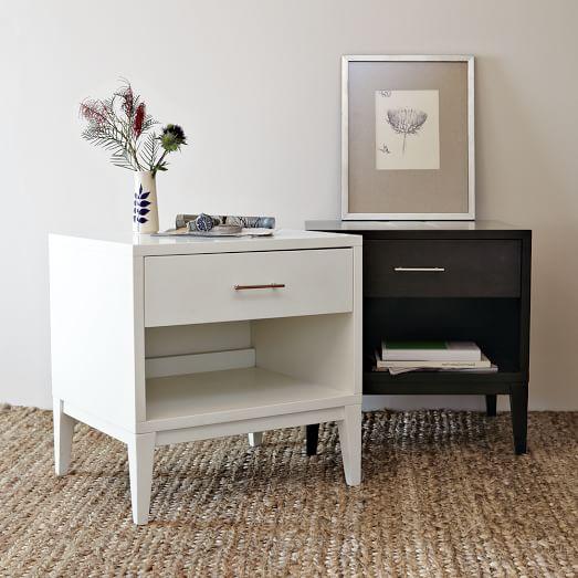 Narrow-Leg End Table - White