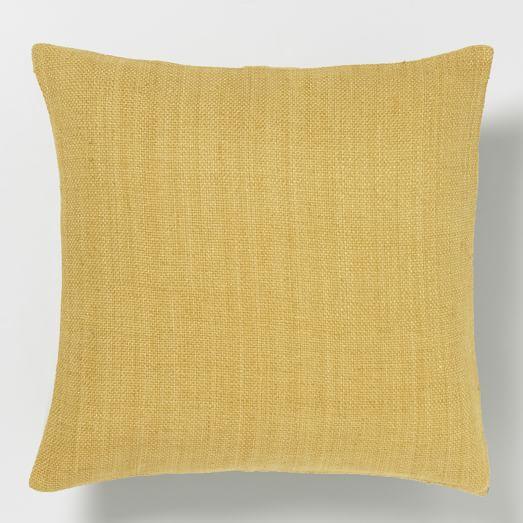 Silk Hand-Loomed Pillow Cover - Horseradish