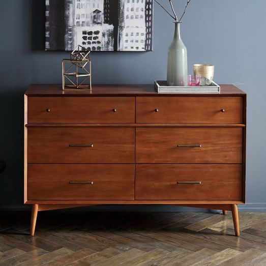 Mid Century 6 Drawer Dresser Acorn West Elm