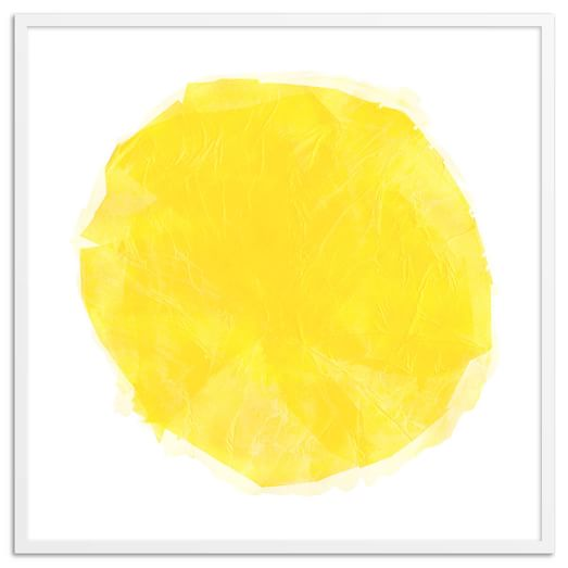 Yellow Sun Wall Decor : Yellow sun wall art west elm