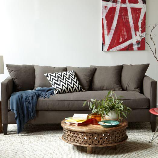 Dunham Down-Filled Sofa - Toss Back