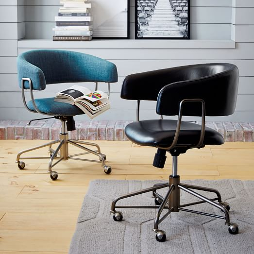 halifax upholstered office chair west elm