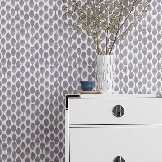 Paper Wall Panels : Chasing paper removable wallpaper stamped dots west elm