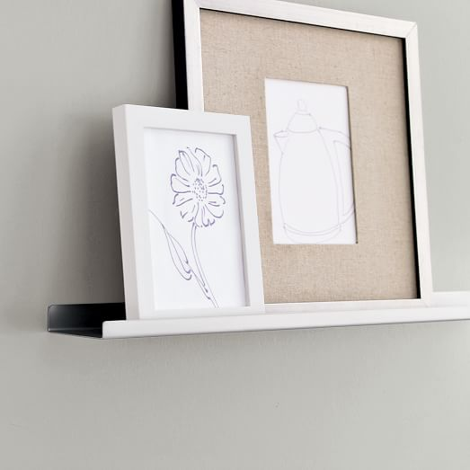Metal picture ledge west elm for Wall shelves and ledges