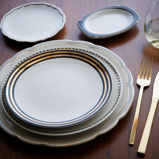 fishs eddy gilded dinnerware west elm