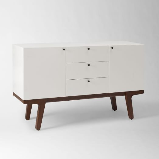 Modern media console white west elm White media console