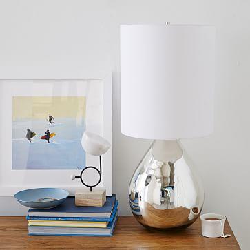 glass jug table lamp west elm. Black Bedroom Furniture Sets. Home Design Ideas