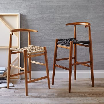 Scoop Back Bar Stool Counter Stool West Elm
