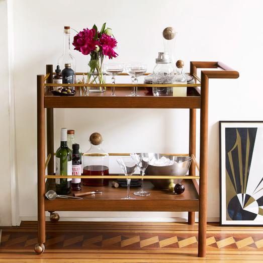 mid century bar cart west elm. Black Bedroom Furniture Sets. Home Design Ideas