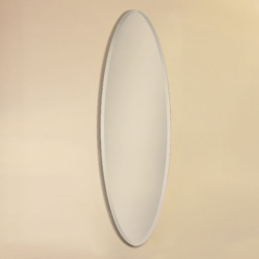 Thin oval wall mirror west elm for Thin wall mirror