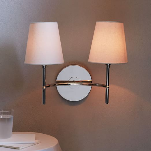 Arc Mid-Century Sconce – Double (Polished Nickel)