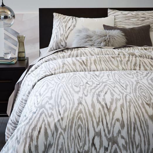 woodgrain ikat duvet cover west elm. Black Bedroom Furniture Sets. Home Design Ideas