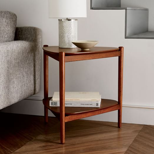 Retro tripod side table west elm for Retro side table