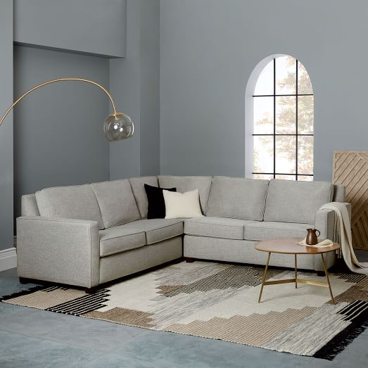 Henry Set 1: Corner,  Right Arm 2-Seater Sofa, Left Arm 2-Seater Sofa , Twill, Gravel