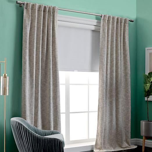 Belgian Flax Linen Curtain Natural West Elm