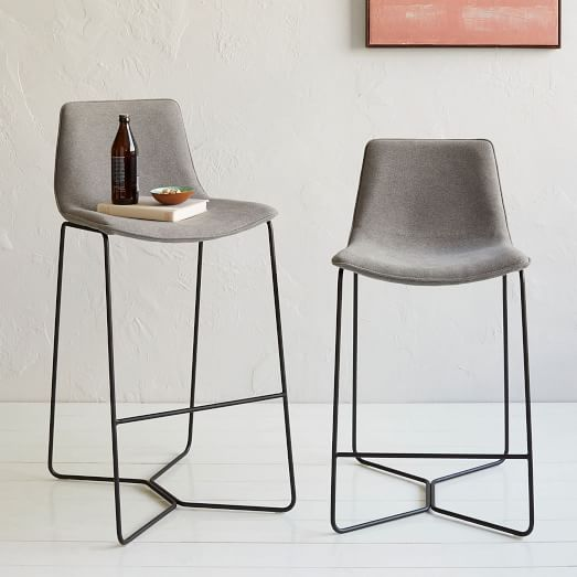 Slope Upholstered Bar Counter Stools West Elm