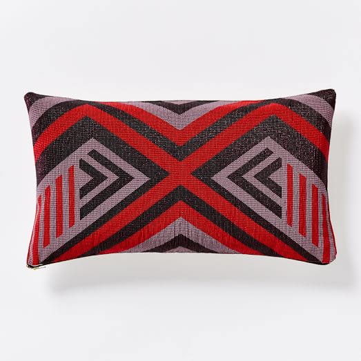 Beaded Reflected Diamond Pillow Cover