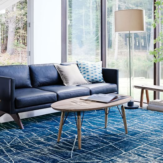 graphica oval coffee table c West Elm Mango Wood Coffee Table