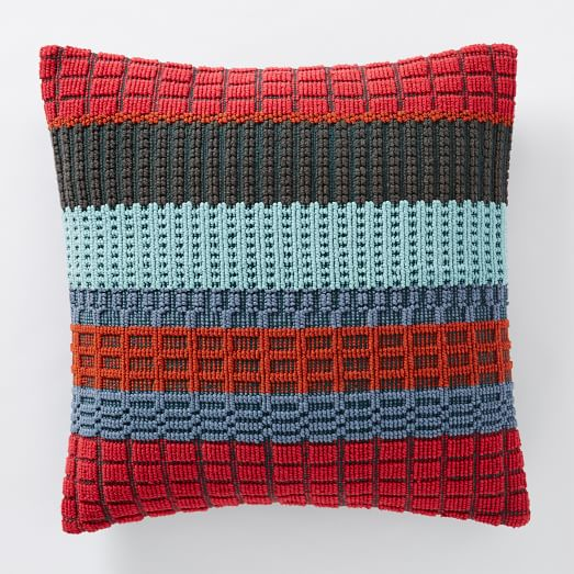 Margo Selby Woven Block Pillow Cover - Red